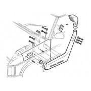 Schnorkel SAFARI en PVC Noir pour : Discovery 1 TDi 200