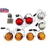 Kit WIPAC de 8 Feux LED de Couleur pour : Land-Rover 88/109 Série II IIA III