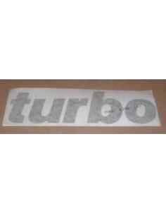 """Autocollant Arrière """" TURBO """" couleur GRIS CLAIR"""
