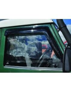 Déflecteur d'Air Avant en PVC Transparent pour : Toutes Defender 90/110/130
